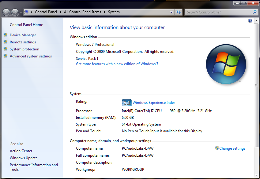 windows system information screenshot