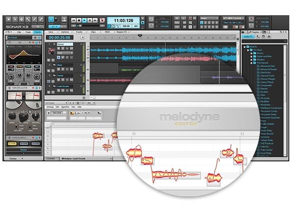 SONAR x3 melodyne essential